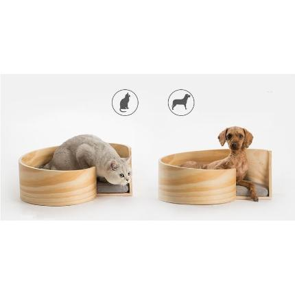 pidan Wooden Pet Spiral Bed