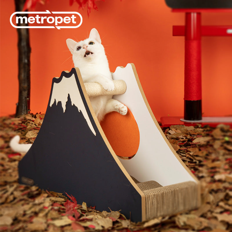 METROPET MOUNT FUJI SCRATCHER CAT BED WITH SCRATCHER BEAM-COLUMN