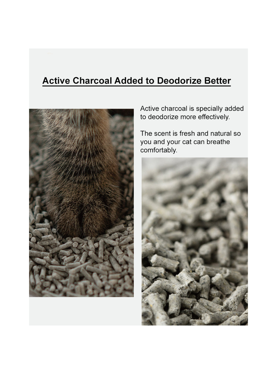 Tofu Cat Litter -  Active Charcoal 7L