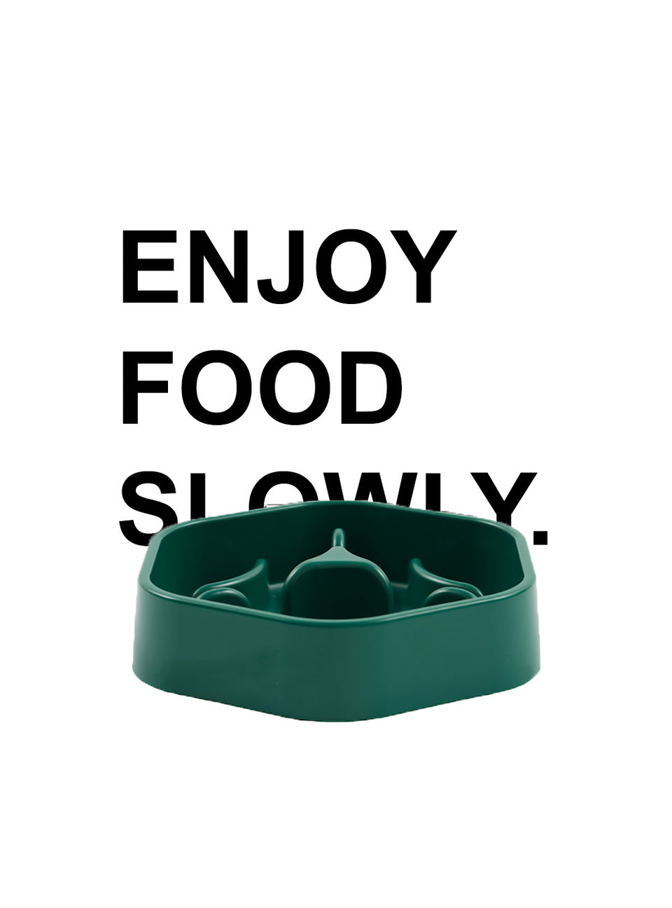Slow Feed Bowl - Forest Type