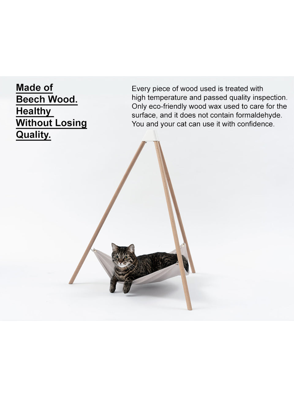 Wooden Pet Bed - Triangular Hammock Type