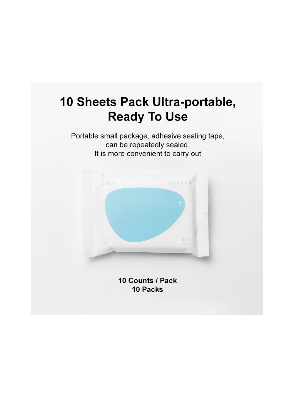 Pet Wet Wipes - 10 Packs / 10 Counts Per Pack
