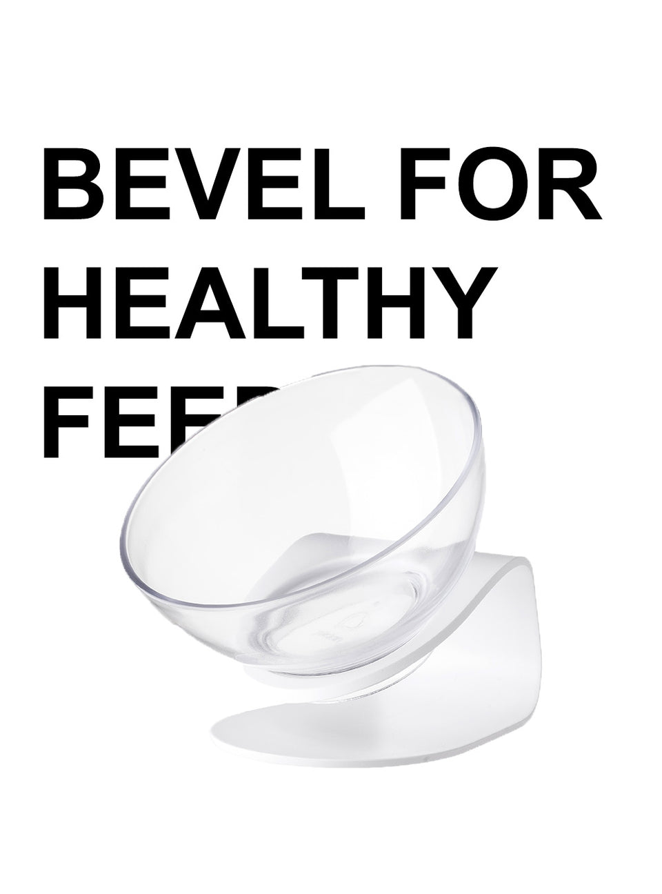 Bevel Pet Bowl with Bowl Rack