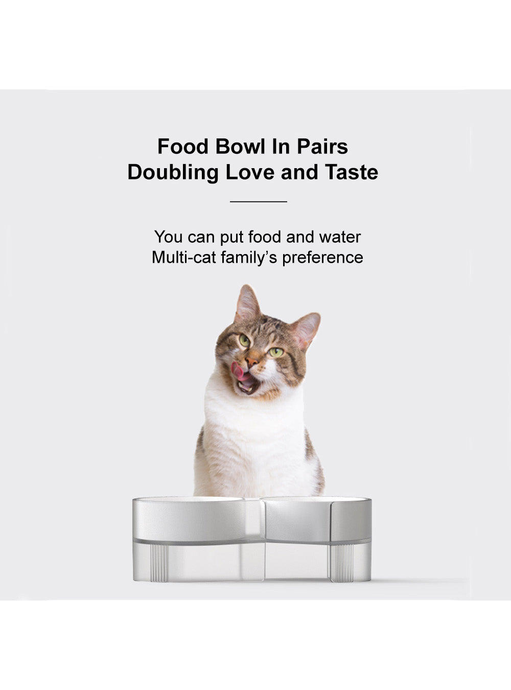 "pidan ""S-type"" Tilted Cat Double Bowl"