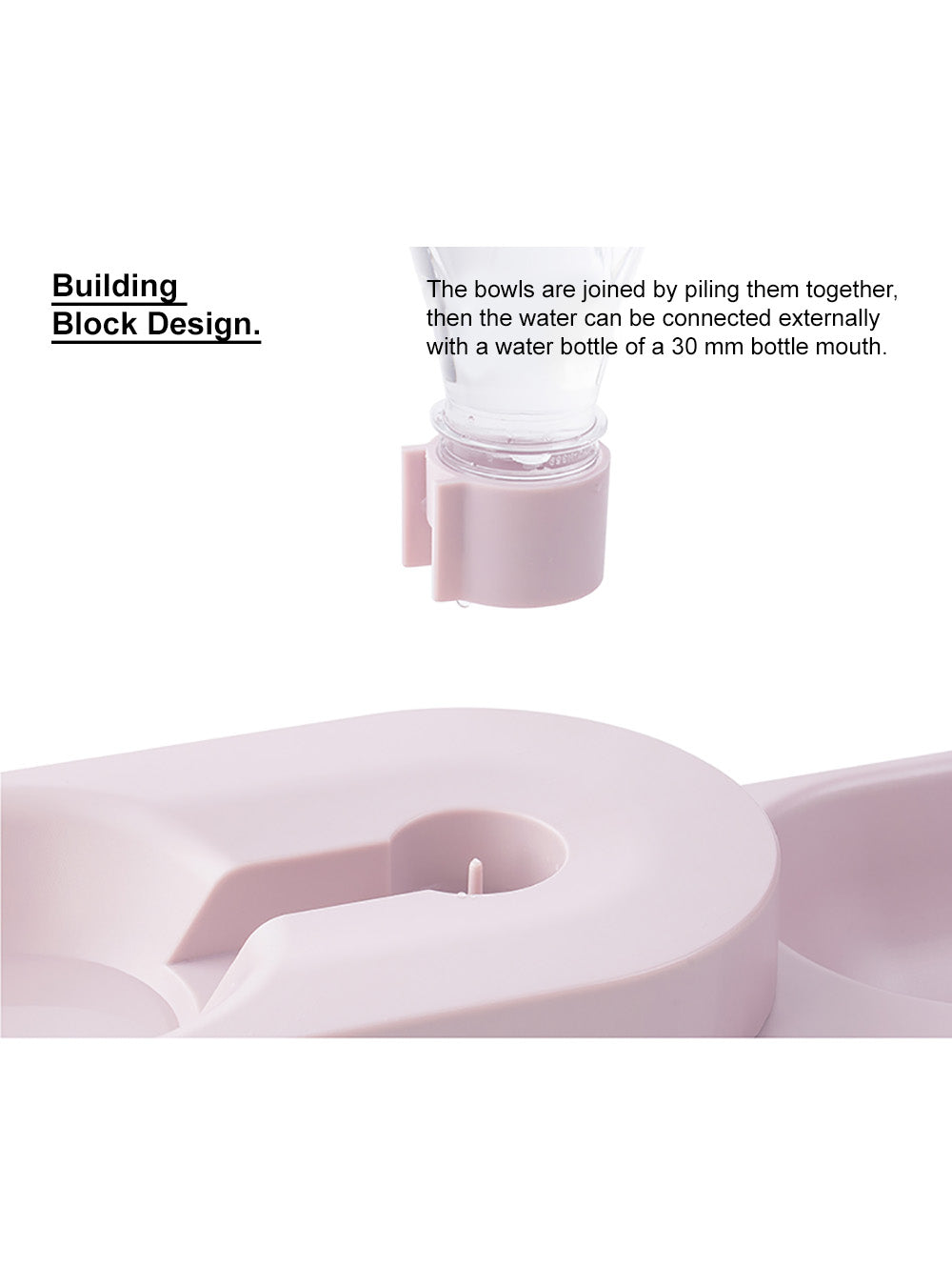 "pidan ""Block"" Pet Double Bowl"