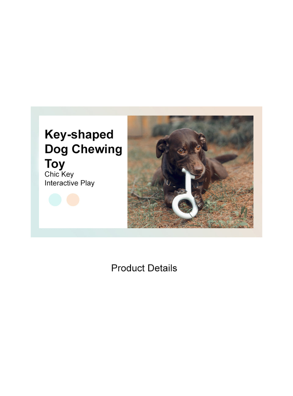 Key-shaped Dog Chewing Toy