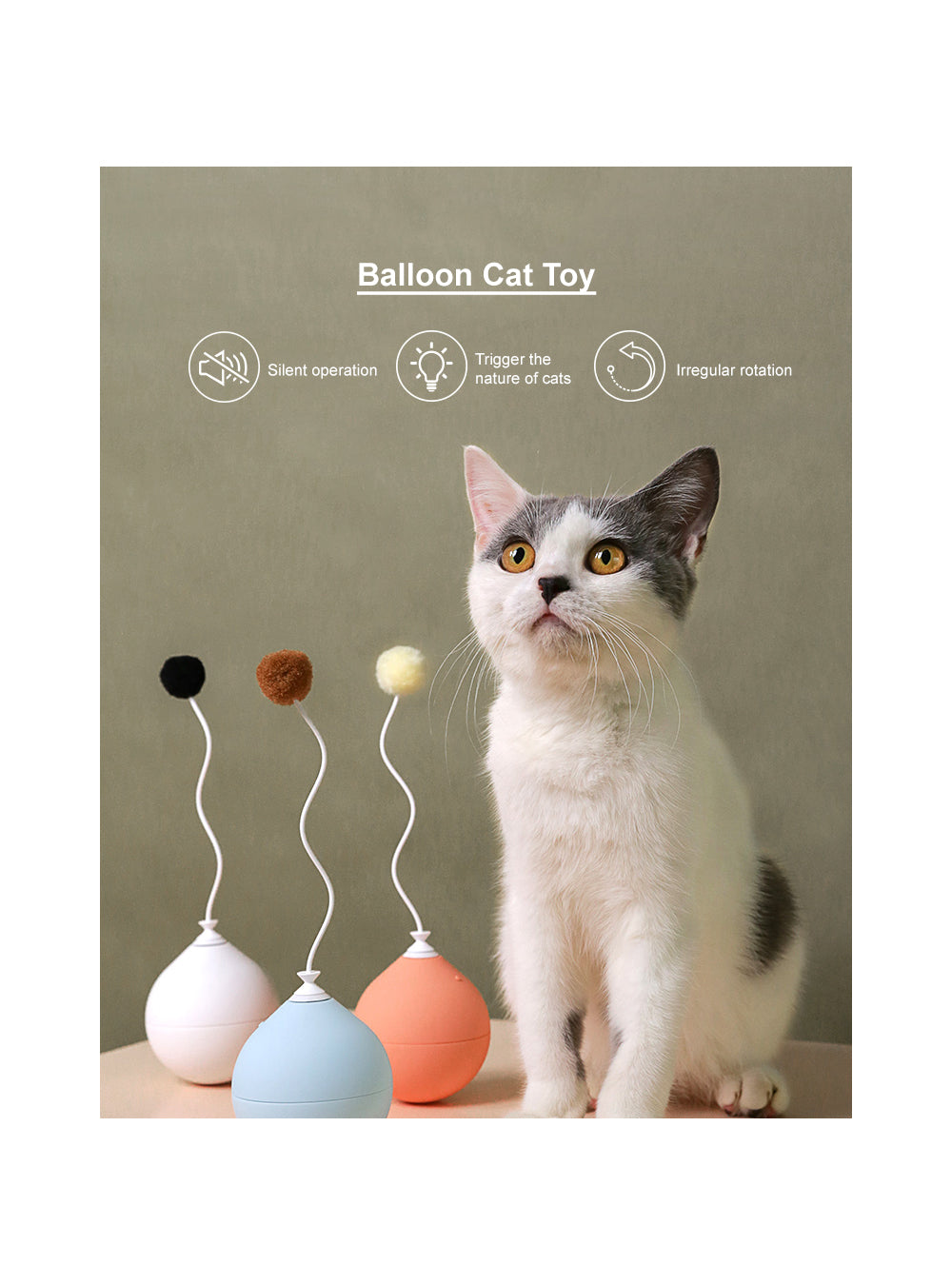 "pidan ""Balloon"" Electronic Cat Teasing Toy Accessory Package"