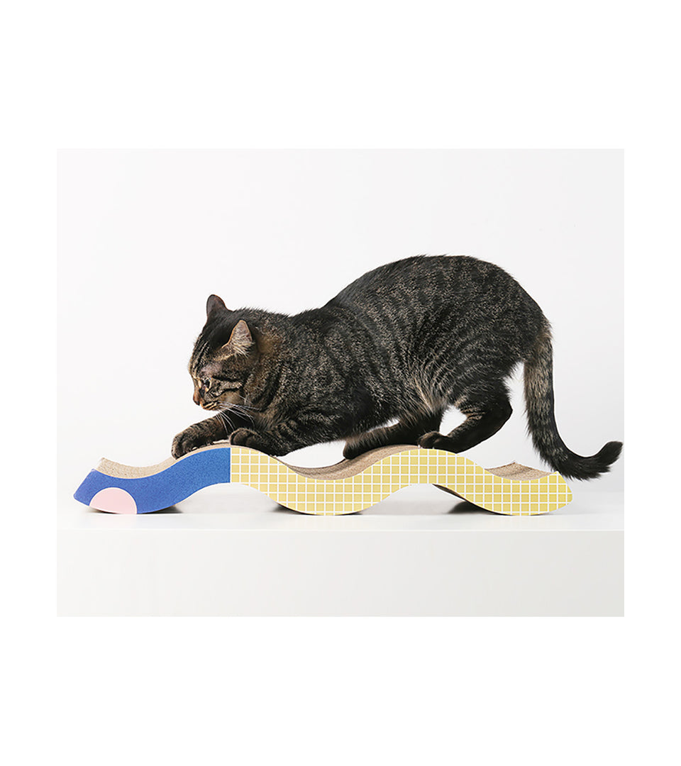 Cat Scratching Board - Memphis of Egypt - Wave Style
