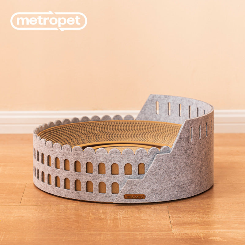 METROPET THE COLOSSEUM SCRATCHER CAT BED