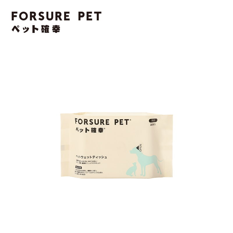 Forsure Pet Wet Wipes for Pets, 1 Pack, 30 Sheets per Pack