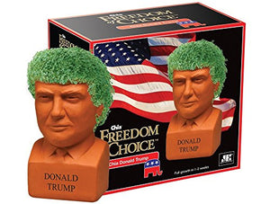 Chia Pet Donald Trump, Decorative Pottery Planter, Freedom of Choice, Easy To Do and Fun To Grow, Novelty Gift, Perfect For Any Occasion (Contains Packets For 3 Plantings) - RSPolitics Store
