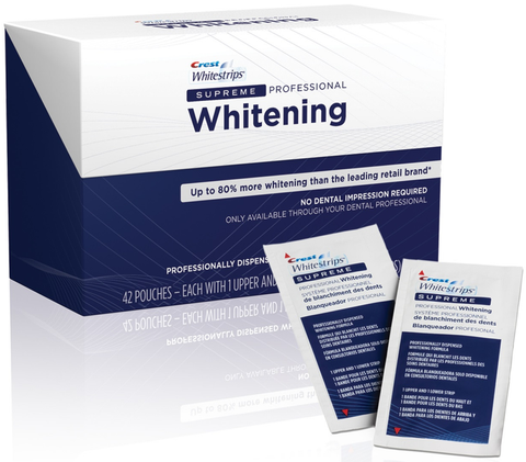 Crest 3D Whitestrips Supreme Professional Strength. Free Shipping. - Crest Whitestrips Store