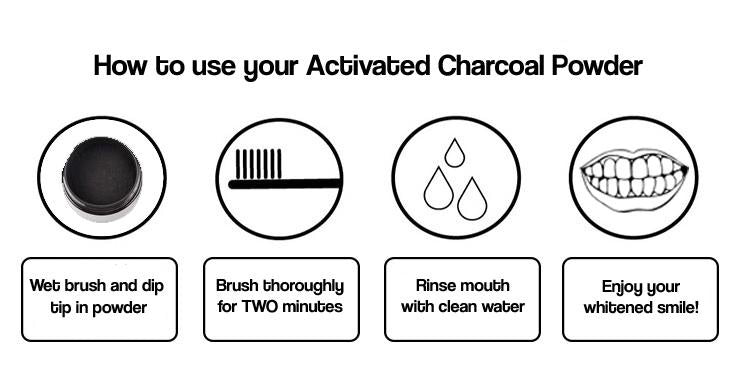 Charcoal Teeth Whitening Powder + Bonus Bamboo Toothbrush - Crest Whitestrips Store