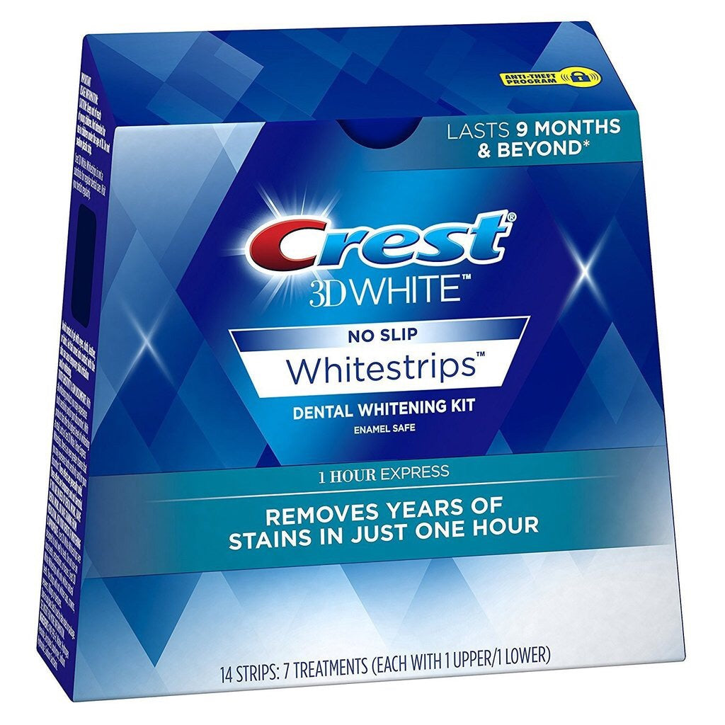 Crest 3D Whitestrips 1 HOUR Express Treatment. 7 Treatments/14 Strips. Sealed Retail Box. - Crest Whitestrips Store