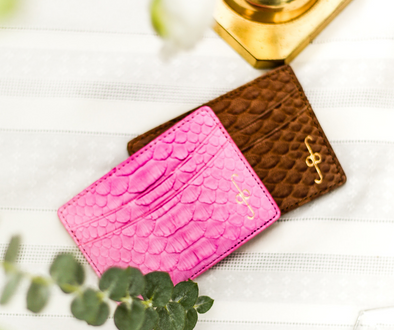 python card case, luxury card case, mens card case, womens card case, alligator card case