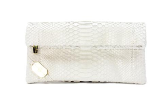 bridal purse, bridal accessories, white python purse