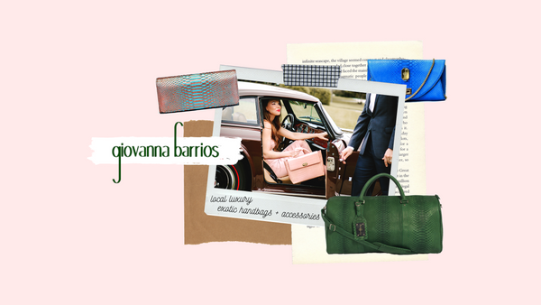 giovanna barrios, luxury accessories, exotic skin handbags