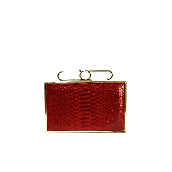 Attache Box Clutch - Python