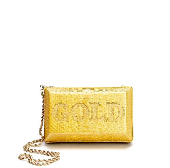 Private Vault Gold Brick Clutch