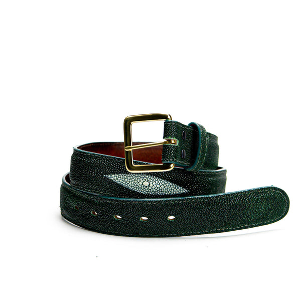 Belt - Forest Green Stingray