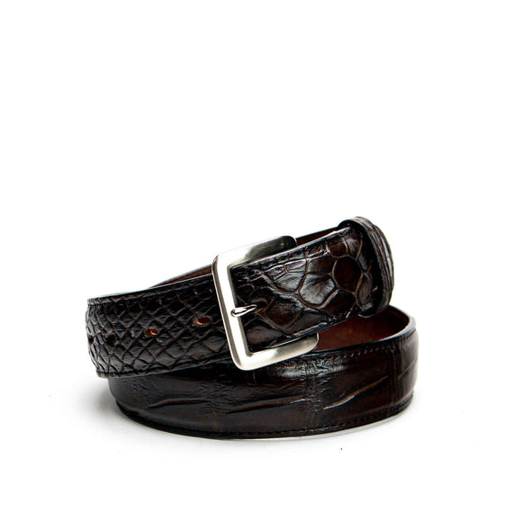 Belt - Dark Brown Alligator