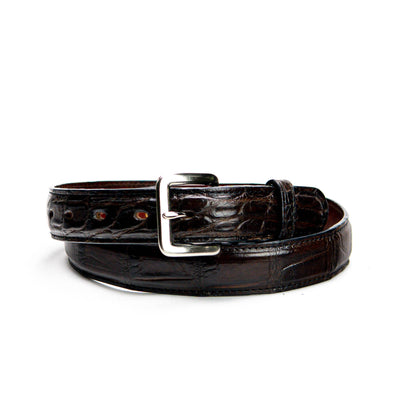 "Belt - Dark Brown Alligator (1.25"" wide)"
