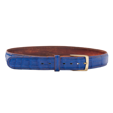 Belt in Blue Alligator