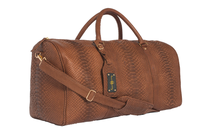 Brown Python Duffle Bag