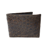 Dark Brown Alligator Slim Fold Wallet