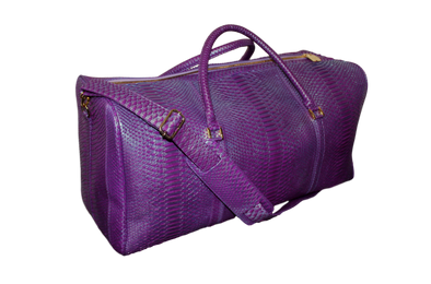 Duffel Bag - Purple/Mint Python