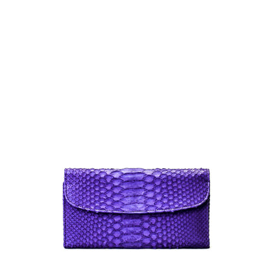 Purple Python Clutch Wallet