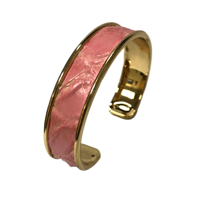 Medium Cuff Bracelet - Alligator