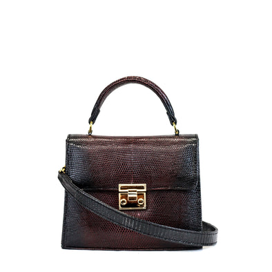 Small Top Handle Satchel - Lizard