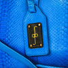 Duffel Bag - Electric Blue Python