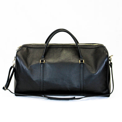 Duffel Bag in Black Leather