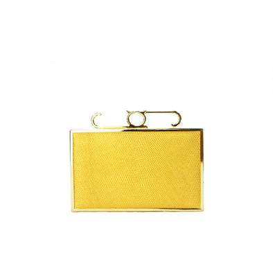 Attache Box Clutch - Lizard