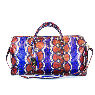 Duffel Bag - Red White & Blue Python