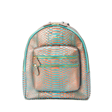 everyday carry, luxury backpack, exotic skins, python mini bag, python backpack, designer backpack