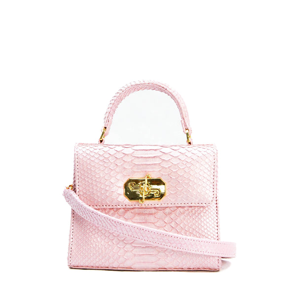Small Top Handle Satchel - Python
