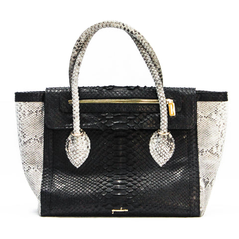 timeless handbag, exotic handbag, exotic skins, python shoulder bag, everyday carry
