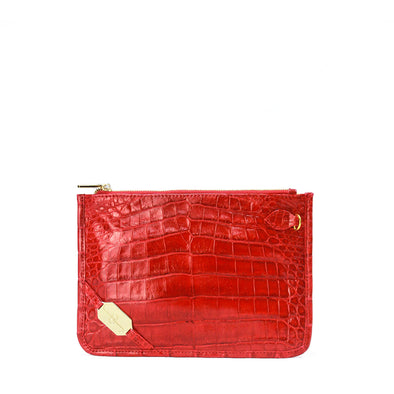 London Wristlet - Crocodile