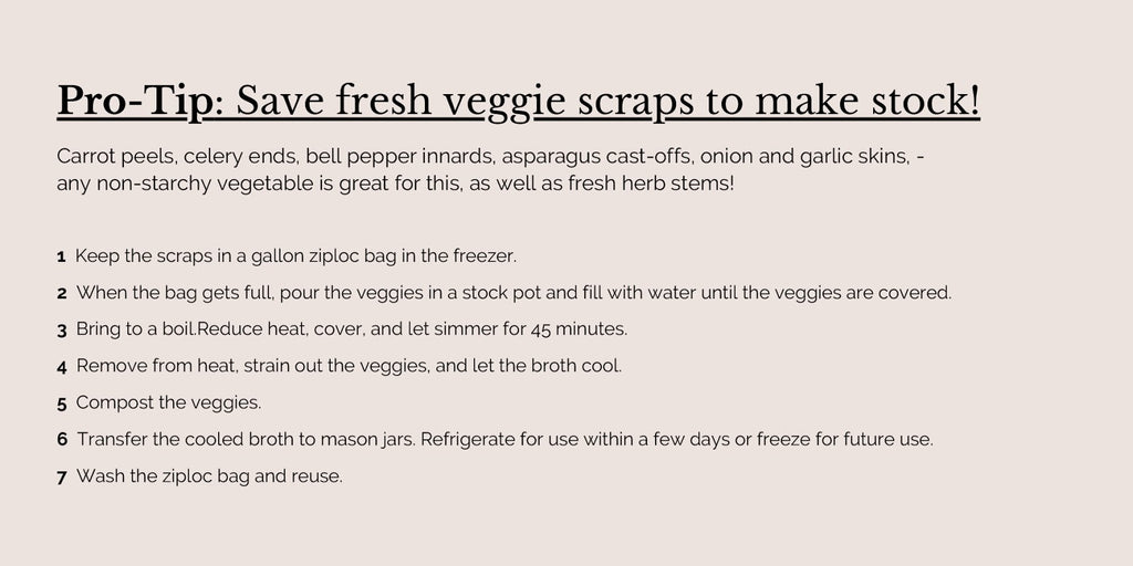 A Drop in the Ocean Sustainable Living Zero Waste Shop Vegetable Stock Instructions
