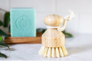 A Drop in the Ocean Tacoma Zero Waste Sustainable Living Shop Bamboo Hemp Natural Dish Brush