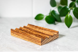 A Drop in the Ocean Tacoma Zero Waste Sustainable Living Shop Natural Wooden Soap Dish Zebrawood