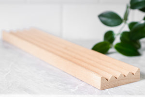 A Drop in the Ocean Tacoma Zero Waste Sustainable Living Shop Wooden Soap Dish Extra Long Beechwood