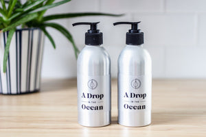A Drop in the Ocean Sustainable Living Zero Waste Plastic Free Shop Liquid Shampoo + Conditioner Bundle Bulk Refills