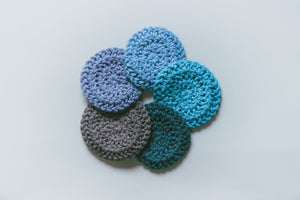 A Drop in the Ocean Sustainable Living Zero Waste Plastic Free Shop Reusable Cotton Rounds (Set of 5) Reusable Goods