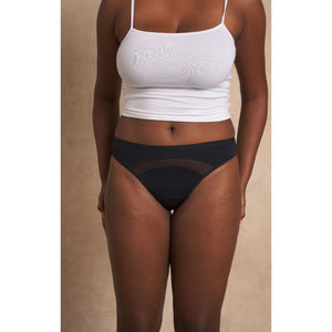 A Drop in the Ocean Tacoma Zero Waste Sustainable Living Shop Saalt Period Underwear Black Bikini