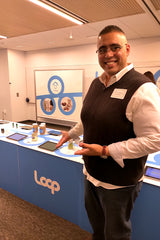 Bilal's EasyKale CEO Bilal Qizilbash at the LOOP U.S. Launch in New York City