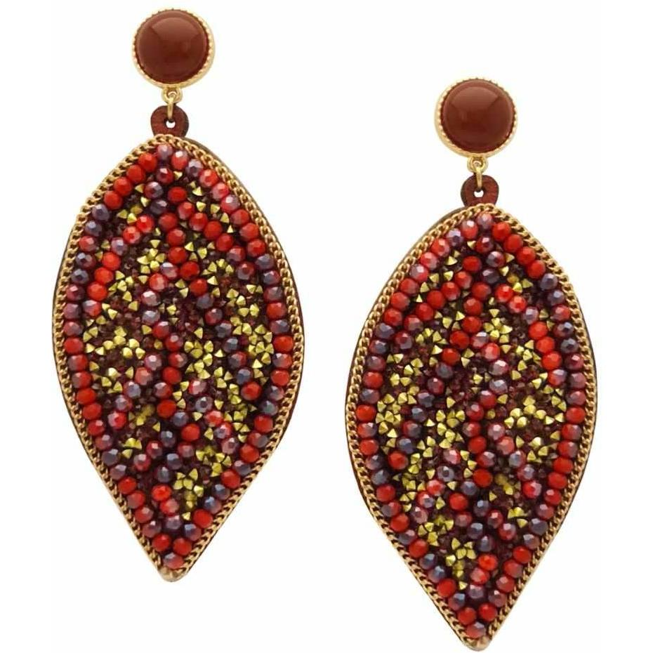 chevere jr earrings product close up sterling beads silver